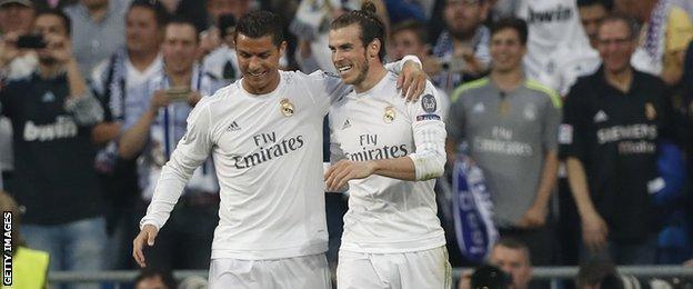 Ronaldo and Gareth Bale