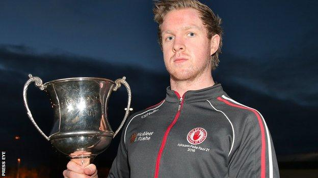 Tyrone Under-U21 captain Frank Burns is bidding to help the county retain their Ulster and All-Ireland crowns