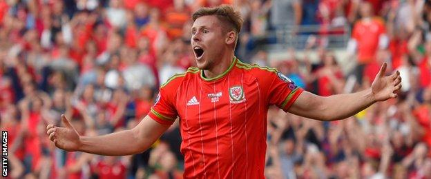 Simon Church is a regular in the Wales squad