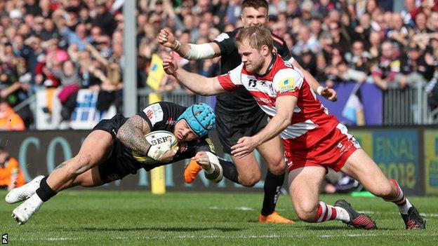 """Jack Nowell scores his side""""s fourth try"""