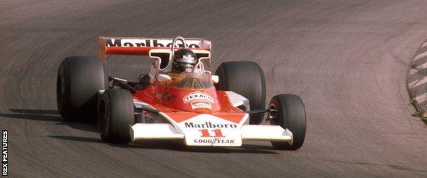 James Hunt en route to win at Watkins Glen