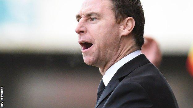 Sacked Notts manager Jamie Fullarton
