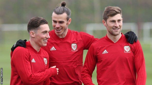 Harry Wilson, Gareth Bale and Ben Davies