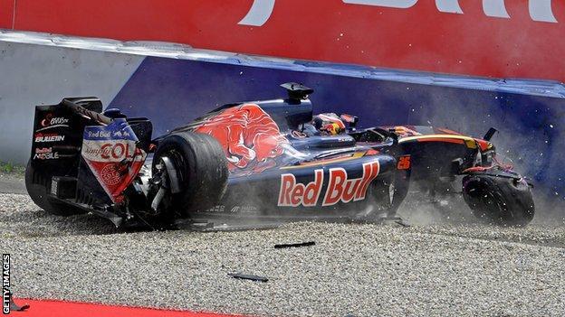 Toro Rosso F1 driver Daniil Kvyat