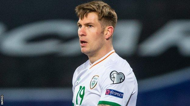 James Collins scored the Republic's late second goal in Wednesday's 3-2 defeat by Serbia