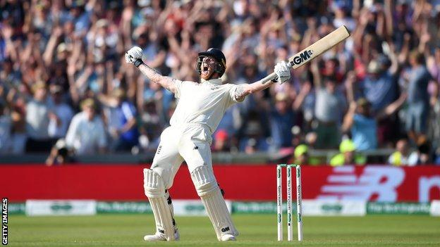 Stokes celebrates winning the third Ashes Test against Australia after an innings described as one of the greatest in cricket history