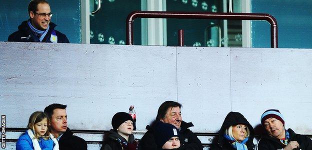 Aston Villa fan Prince William