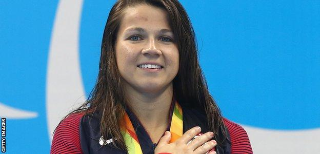 Three-time Paralympic gold medallist Rebecca Meyers said she wants to marry Prince Harry