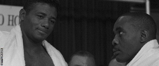 Floyd Patterson and Sonny Liston
