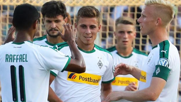 Borussia Monchengladbach win 11-1: Trio score hat-tricks in German Cup game