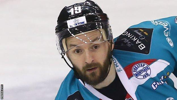 Belfast Giants' player Colin Shields