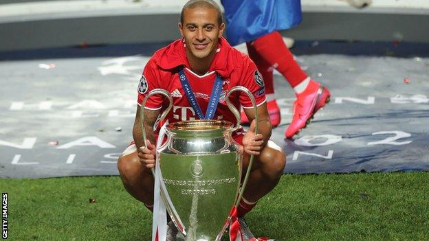 Thiago Alcantara helped Bayern Munich win last season's Champions League before moving to Liverpool