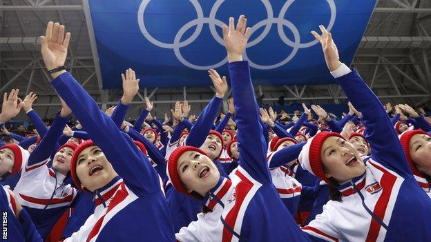 North Korea's cheerleading squad