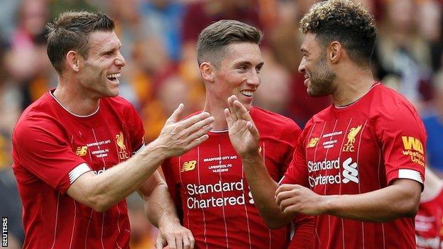 James Milner, Harry Wilson and Alex Oxlade-Chamberlain