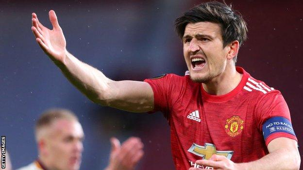 Harry Maguire in action for Manchester United