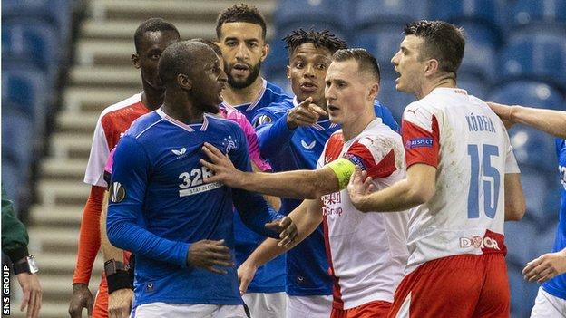 Rangers' players were left incensed by a comment made to Glenn Kamara by Ondrej Kudela