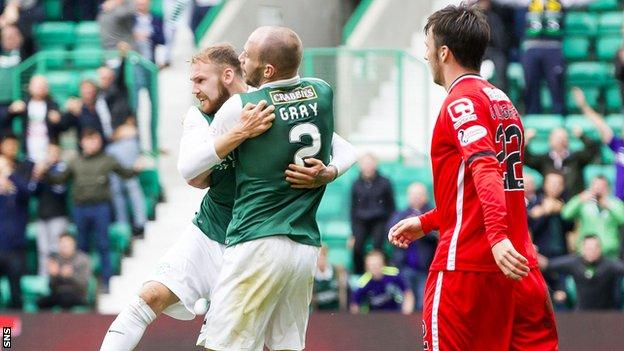 Martin Boyle scored for Hibs to draw the sides level