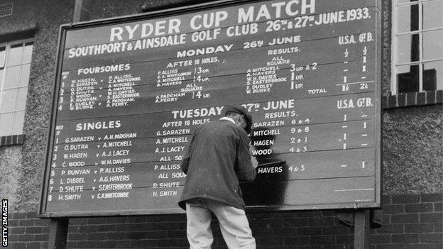 Ryder Cup in 1933
