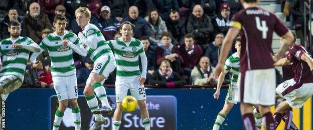Osman Sow's late goal took a slight deflection off Gary mackay-Steven