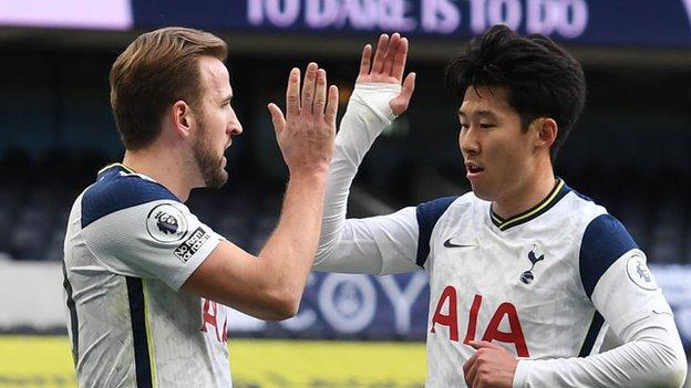 Tottenham's Harry Kane and Son Heung-Min