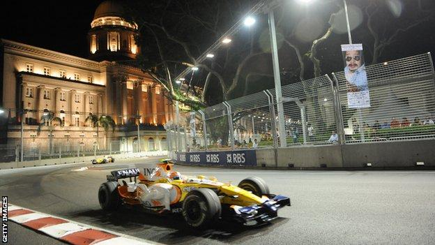Nelson Piquet Jr Singapore 2008