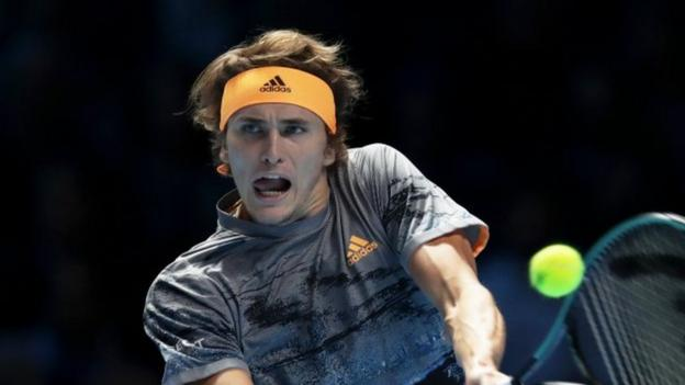 ATP Finals: Alexander Zverev denies using his phone during match - BBC News