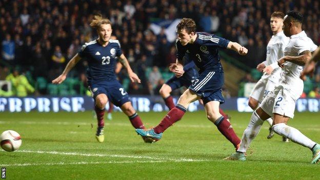 Andrew Robertson scored against England