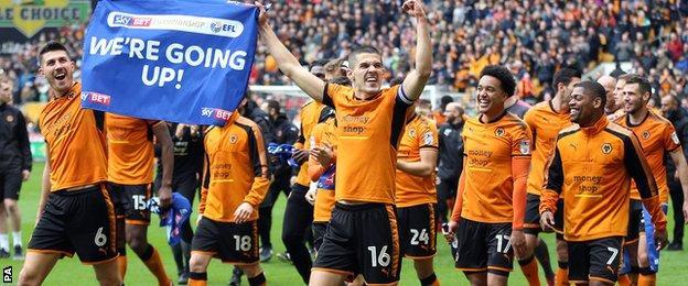 Wolves celebrate promotion