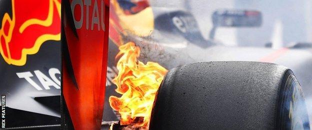 Max Verstappen fire