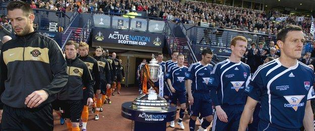 Ross County played Dundee United in the 2010 Scottish Cup final, losing 3-0
