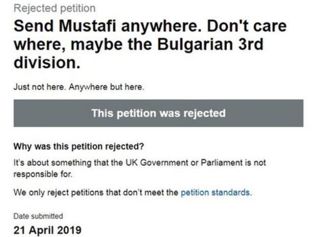 Mustafi petition