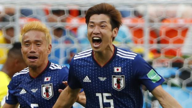 286af43d05a World Cup 2018: Japan beat 10-man Colombia in Group H - BBC Sport