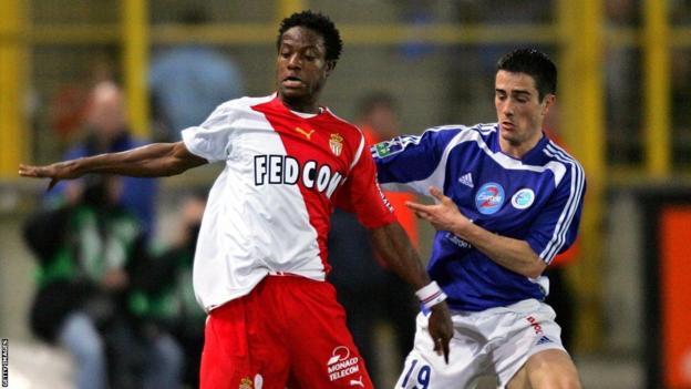 Former Sierra Leone captain Mohamed Kallon (left)