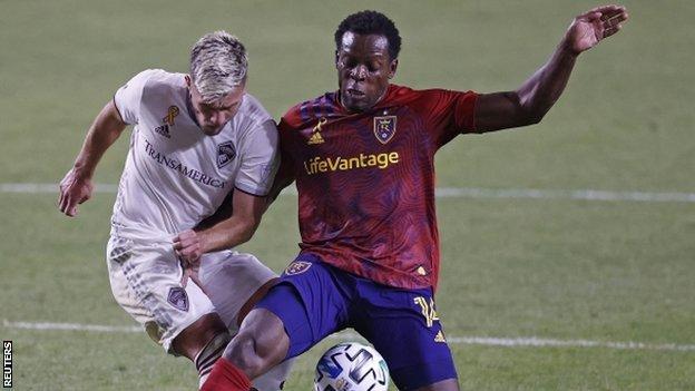 Nedum Onuoha playing for Real Salt Lake