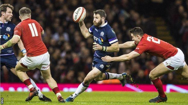 Tommy Seymour is Scotland's fourth-highest try scorer