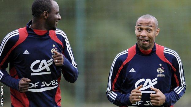 Patrick Vieira and Thierry Henry