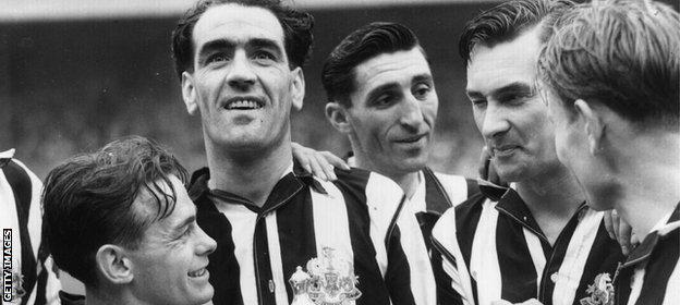 Newcastle with the FA Cup in 1951