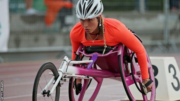 British wheelchair racer Sammi Kinghorn