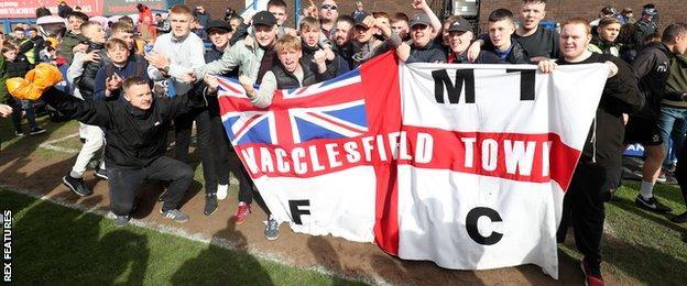 Macclesfield fans celebrate