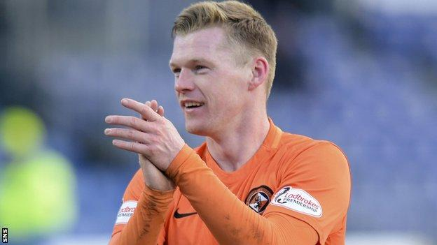 Dundee United forward Billy Mckay