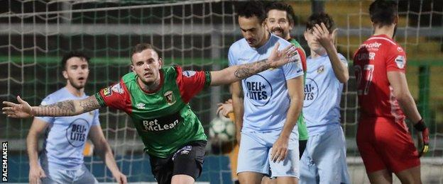 Darren Murray's 84th-minute equaliser denied Warrenpoint victory at the Oval