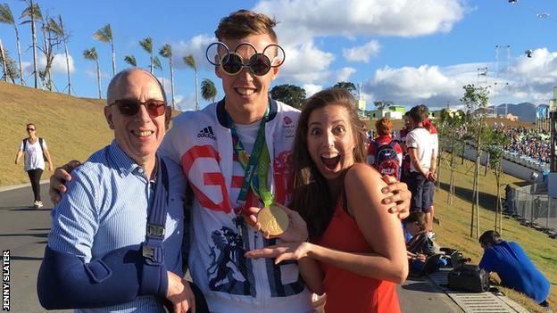 Jenny and Jeremy Slater with Joe Clarke in Rio