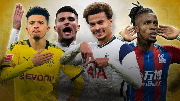 Jadon Sancho, Houssem Aouar, Dele Alli and Wilfried Zaha are among those who could move on transfer deadline day