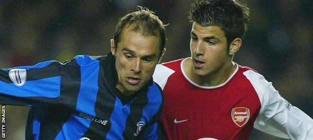 Cesc Fabregas on debut