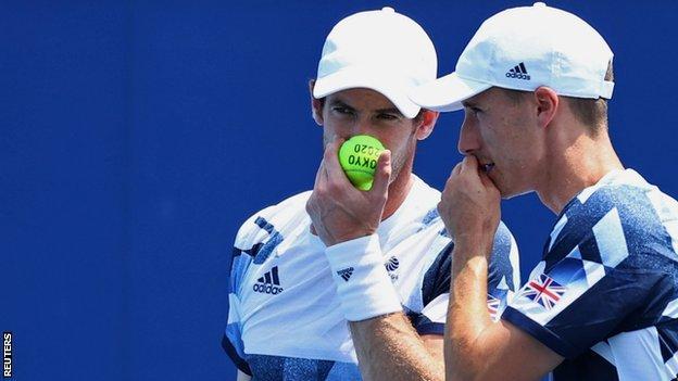 Andy Murray and Joe Salisbury discuss tactics