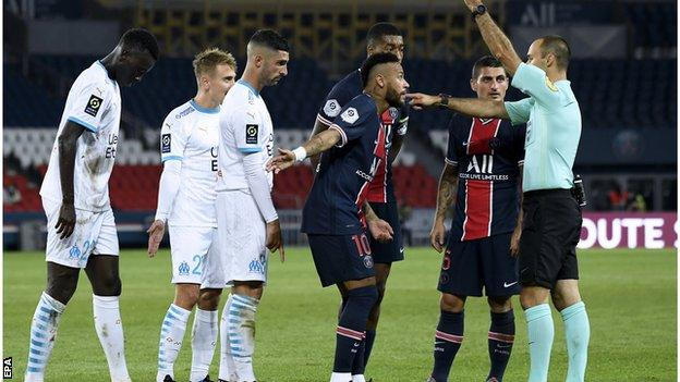 in_pictures Neymar is sent off
