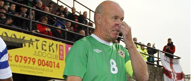 Sammy McIlroy made 88 appearances for Northern Ireland between 1972 and 1987