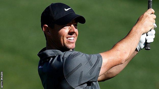 Rory McIlroy dropped three shots in his opening two holes after a couple of errant drives