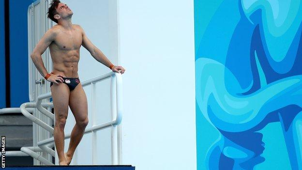 Tom Daley at the Commonwealth Games in 2018