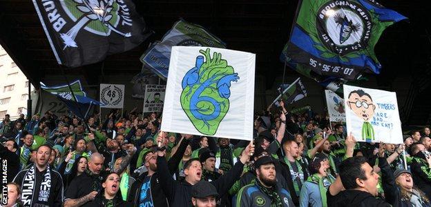 Seattle Sounders FC fans